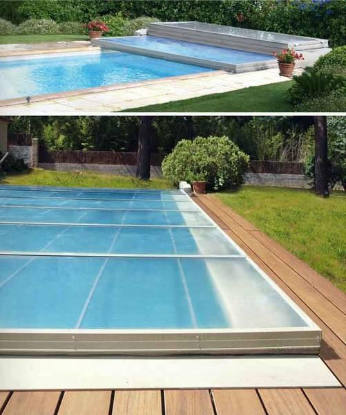 prix abri piscine plat