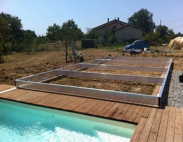 pose d une terrasse en bois sur dalle béton