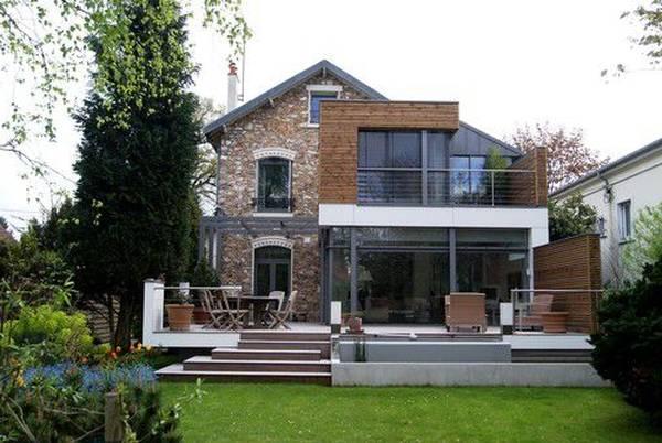 extension de maison contemporaine